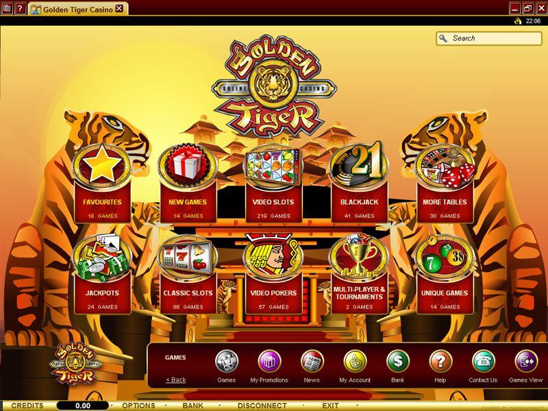 wir bieten großartige casino spiele hier beim golden tiger casino