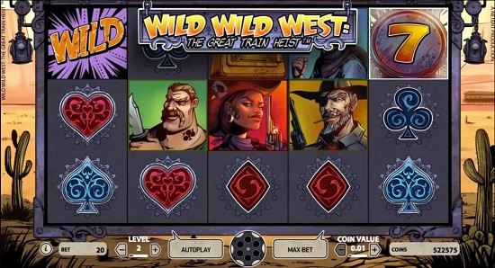 wild wild west slot screenshot big