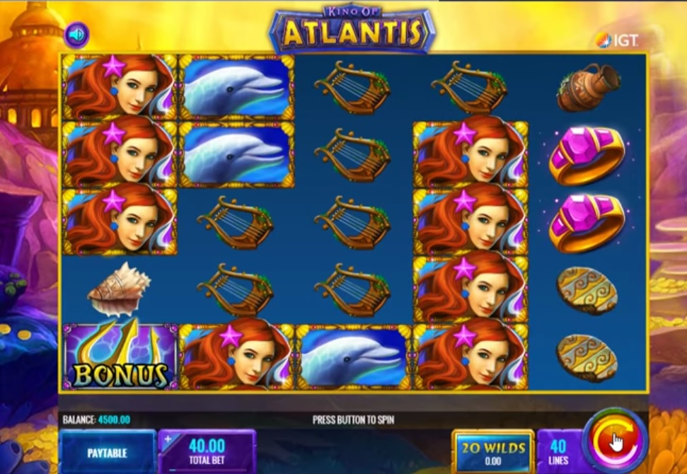 King of atlantis slot screenshot big